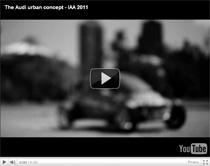 Teaser zum neuen Audi urban concept (Anzeige)