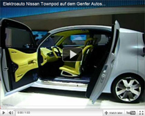 Elektroauto Nissan Townpod auf dem Genfer Autosalon 2011