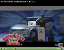 Vorstellung des Elektroautos BYD e6 auf der Detroit Auto Show