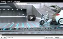 Geely McCar: E-Auto oder Plug-In Hybrid mit integriertem Elektroscooter
