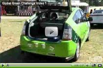 Teilnehmende Autos bei der Global Green Challenge