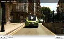 Der Honda Jazz Hybrid auf der Strasse