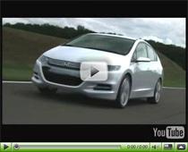 Das neue Hybridfahrzeug Honda Insight Concept in Aktion