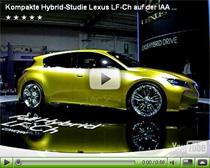 Kompakte Hybrid-Studie Lexus LF-Ch auf der IAA 2009