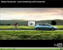 Nissan Leaf Werbesport mit Lance Armstrong