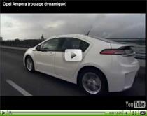 Das Elektroauto Opel Ampera unterwegs auf der Strasse