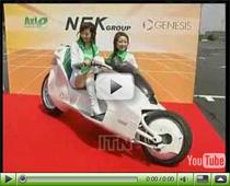 Motorrad mit Magnet-Hybrid-Antrieb aus Japan