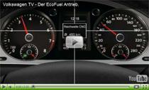 Volkswagen stellt den EcoFuel Antrieb für Erdgas und Benzin vor