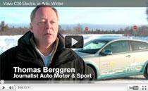Test des Elektroautos Volvo C30 Electric im arktischen Winter