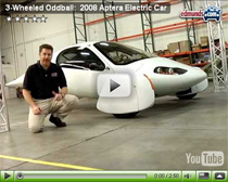 Vorstellung des 2008 Aptera (Elektroauto)