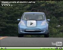 Vorstellung des Elektroautos Nissan Leaf
