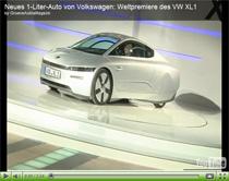 Vorstellung des VW XL1 – Ein Auto mit weniger als 1 Liter Verbrauch