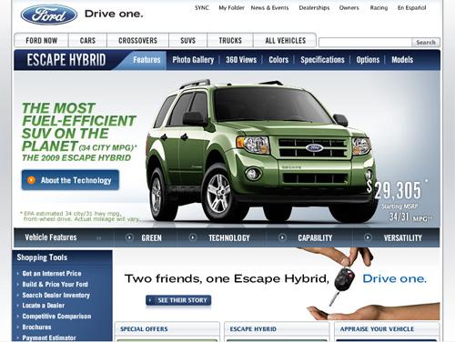 Ford Screenshot Escape Hybrid