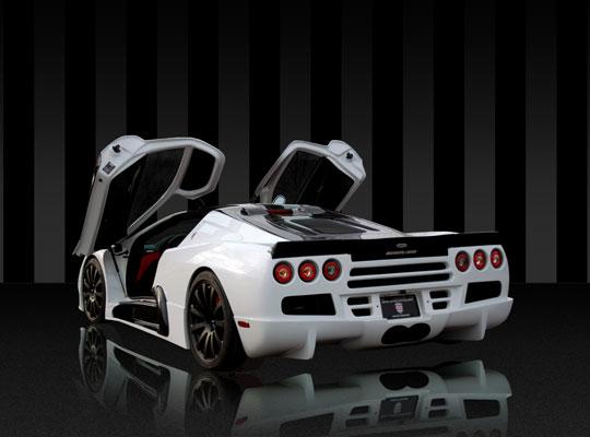 Shelby Ultimate Aero EV von hinten