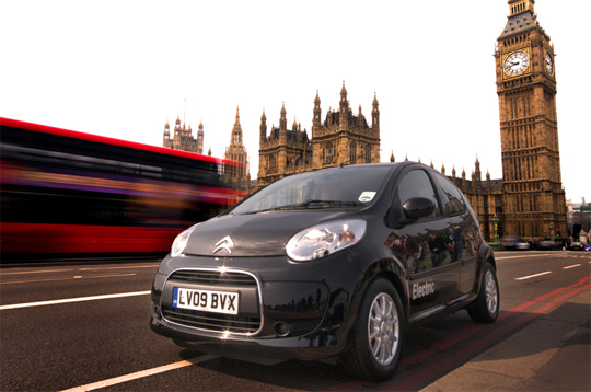 Elektroauto Citroën C1 ev\'ie in London