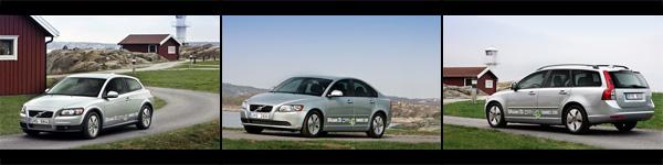 Die drei Volvo DRIVe Start/Stop Modelle mit 104 g CO2/km