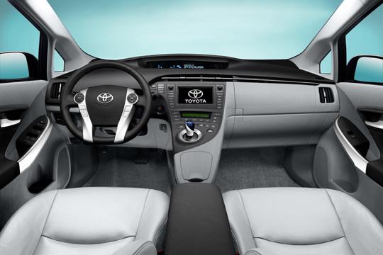 Komfortabler Innenraum des Toyota Prius der dritten Generation