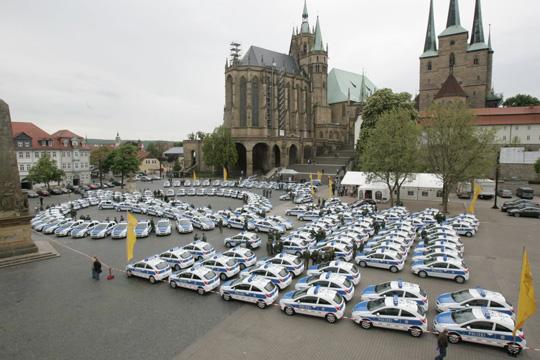 161 Opel Corsa für die Polizei von Thüringen