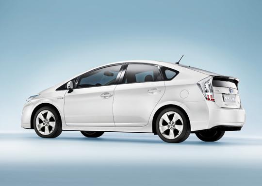 Toyota Prius - Dritte Generation Heck-Seitenansicht