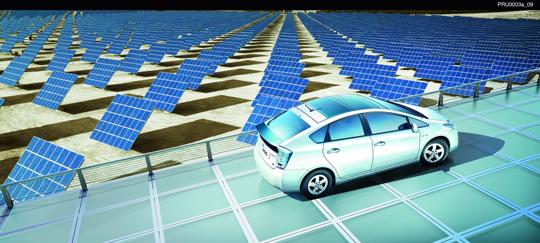 der neue 2010 toyota prius jetzt auch mit solardach erh ltlich gr ne autos. Black Bedroom Furniture Sets. Home Design Ideas
