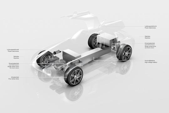 Mercedes-Benz SLS AMG mit Elektroantrieb