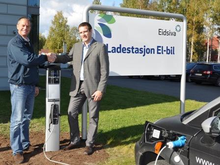 Erste ChargePoint–Ladestation in Norwegen