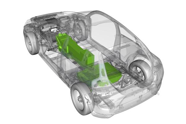 Elektroauto Volvo C30 BEV - Sicherer Platz für Batterien