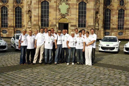 Teams der Peugeot Umweltmeisterschaft