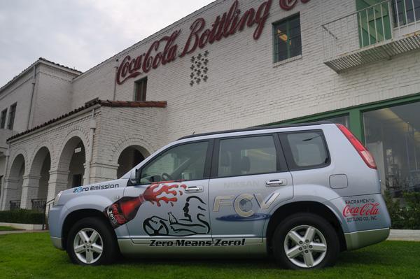 Nissan X-Trail FCV für Coca-Cola