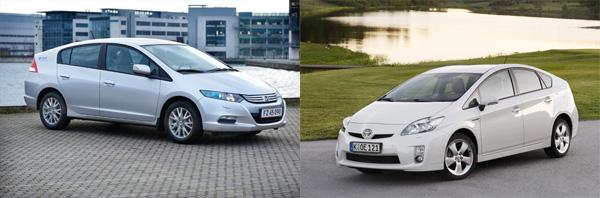 Honda Insight vs. Toyota Prius
