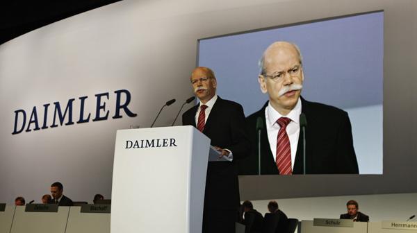 Dr. Dieter Zetsche auf der Daimler Hauptversammlung