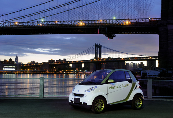 smart fortwo electric drive starttet in den USA
