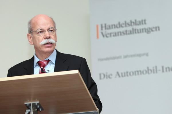 Dieter Zetsche von der Daimler AG bei der Handelsblatt Jahrestagung