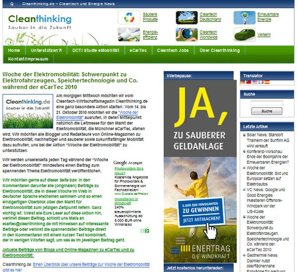 CleanThinking - Woche der Elektromobilität
