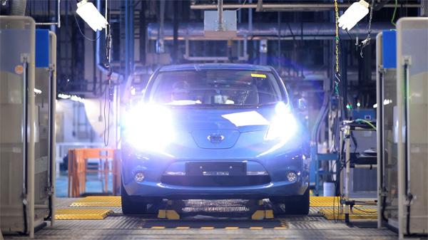 Nissan LEAF Produktionsstart