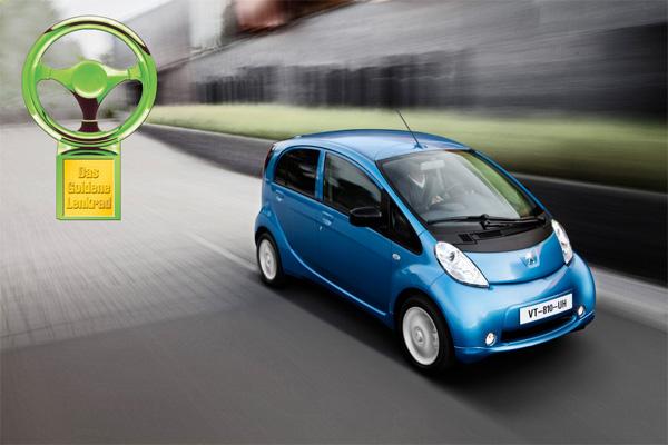 Peugeot iOn gewinnt Grünes Lenkrad