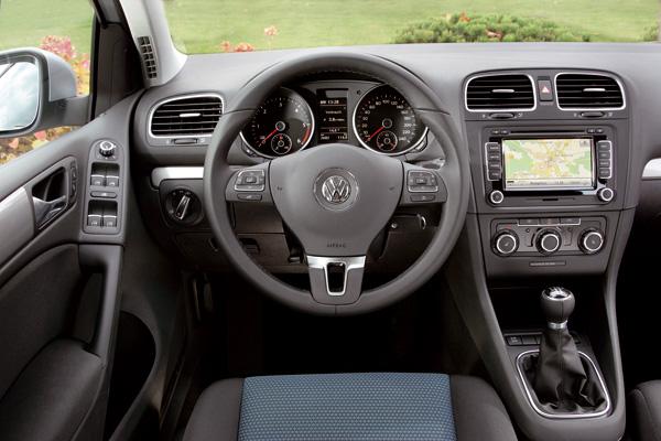 Volkswagen Golf BlueMotion Innenraum