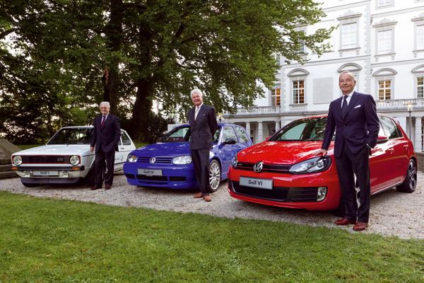 Gipfeltreffen der Designer: Giugiaro, Warkuß und de Silva analysieren das Phänomen Golf