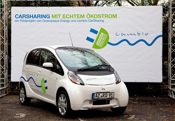 cambio CarSharing mit echtem Ökostrom