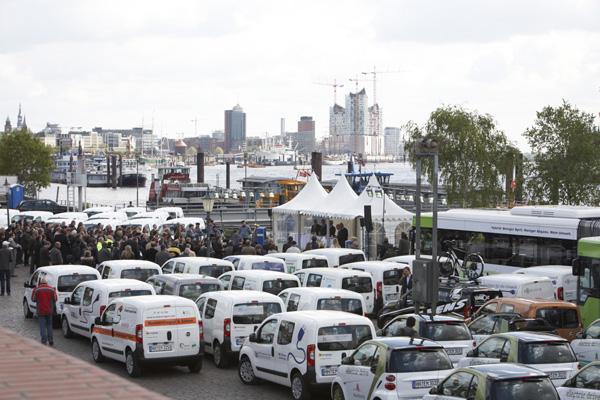 Elektroautos in Hamburg