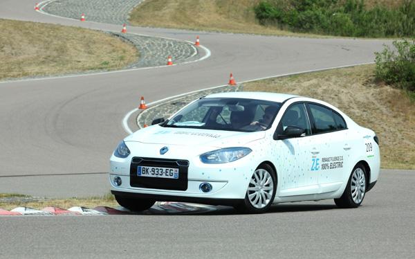 Renault Fluence Z.E. bei der Michelin Challenge Bibendum