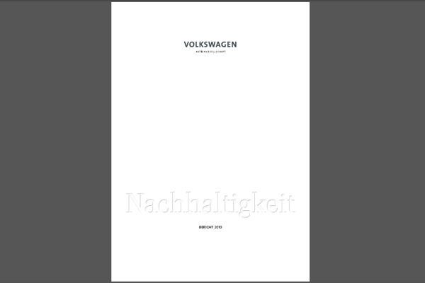 Volkswagen Nachhaltigkeitsbericht