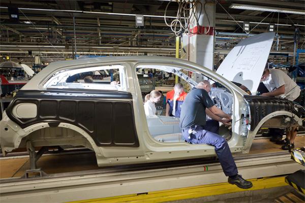 Bau des Volvo C30 Electric