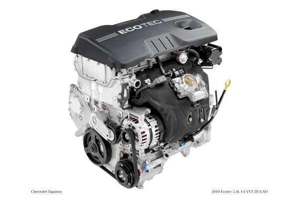 2010 Ecotec 2.4L I-4 VVT DI (Direct Injection) (LAF) for Chevrolet Equinox. X10PT_4C001 (USA)