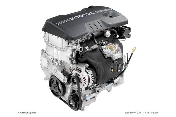 2010 Ecotec 2.4L I-4 VVT DI (Direct Injection) (LAF) for Chevrolet Equinox. X10PT_4C001 (USA)
