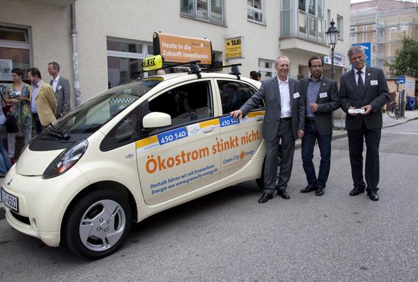 Mitsubishi i-MiEV ist das erste Elektrotaxi Deutschlands