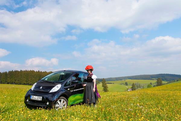Peugeot iOn im Schwarzwald