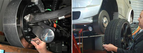 Befestigung des Radnabenmotors und Radmontage