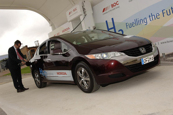 Wasserstoff-Tankstelle bei Honda in Swindon