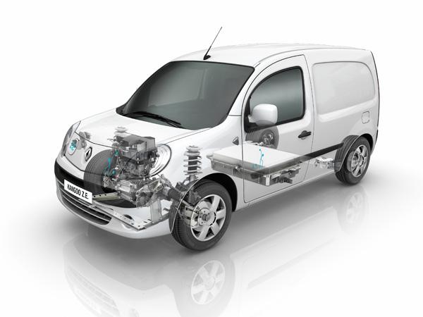 Aufbau des Renault Kangoo Z.E.